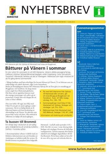 Nyhetsbrev sommaren 2010