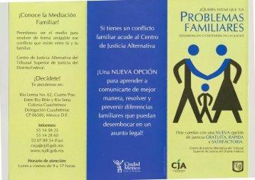 ¡Conoce la Mediación Familiar! - Poder Judicial del Distrito Federal