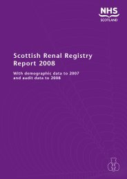 Scottish Renal Registry Report 2008 - The Scottish Renal Registry
