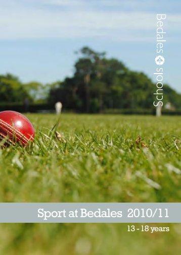 Sport at Bedales 2010/11 - Bedales Schools