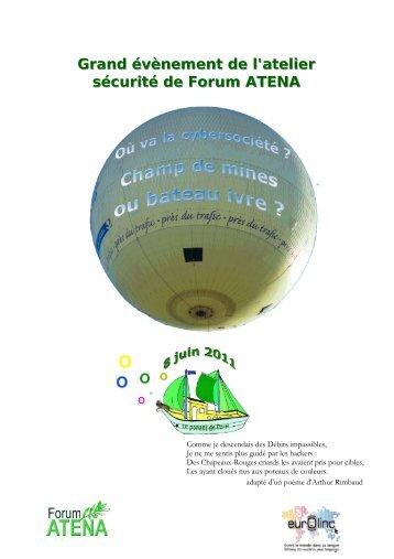 Grand évènement de l'atelier sécurité de Forum ATENA