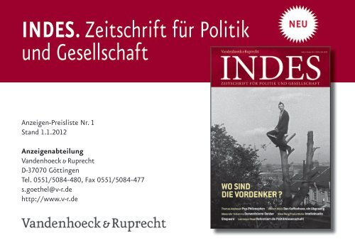 Mediadaten (PDF) - Vandenhoeck & Ruprecht