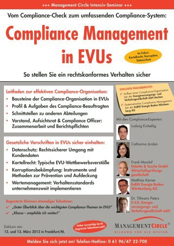 Seminar: Compliance Management in Evus - Management Circle AG