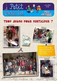 Trop jeune pour participer - Conseil municipal des enfants - Lorient
