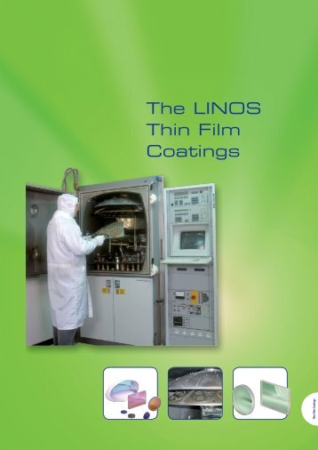 The LINOS Thin Film Coatings - Qioptiq Q-Shop