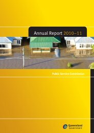 2011 Annual Report - Public Service Commission - Queensland ...