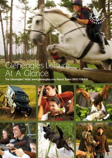 Leisure activities at a glance - Gleneagles