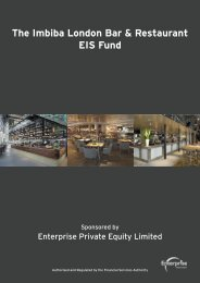The Imbiba London Bar & Restaurant EIS Fund - Clubfinance