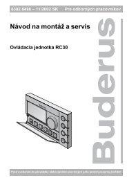 Návod na montáš a servis - Buderus