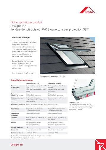Fiche technique produit Designo R7 Fenêtre de toit bois ou ... - Roto