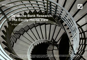 Deutsche Bank Research: The Equity House View