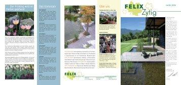 Kundenzeitschrift Herbst 2006 - Felix Gartenbau AG
