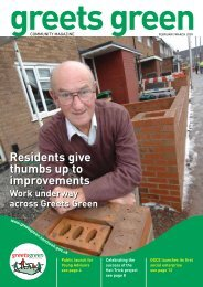 February/March - The Greets Green Partnership Legacy Website