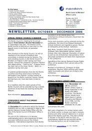 NEWSLETTER, OCTOBER - DECEMBER 2006