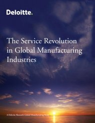 The Service Revolution in Global Manufacturing Industries