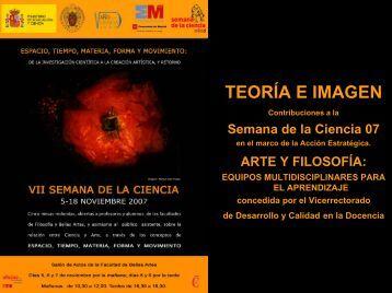 Teoría e Imagen - José Luis González Recio