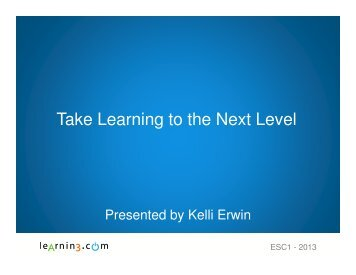 Take Learning to the Next Level