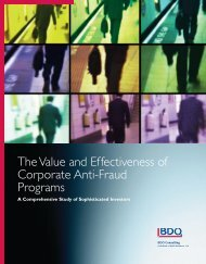 The Value and Effectiveness of Corporate Anti ... - BDO Consulting