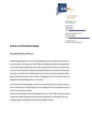 Autismus und Persönliches Budget - KJF Regensburg