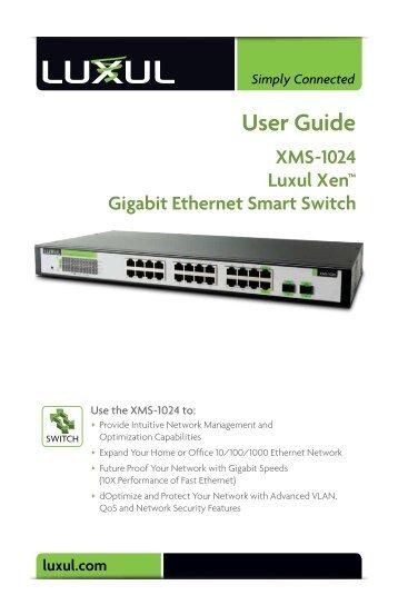 Luxul XMS-1024 Gigabit Ethernet Smart Switch User Guide