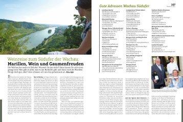 Weinreise zum Südufer der Wachau: Marillen, Wein ... - Josef Fischer