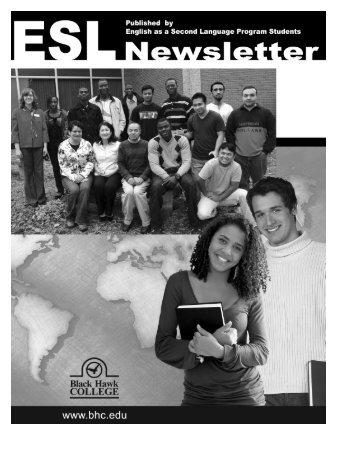 esl newsletter - Black Hawk College