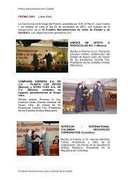 PREMIO 2001. Lima, Perú La Ceremonia de Entrega del ... - Fundibeq