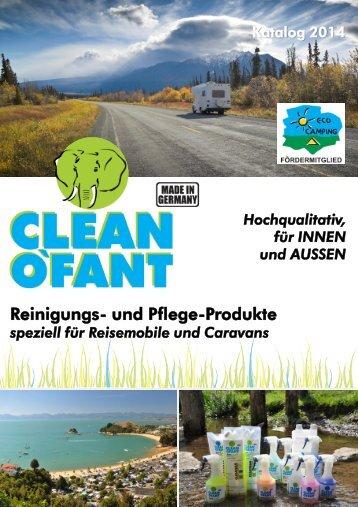 CLEANOFANT Katalog 2014 und Bestellformular Wohnwagen ...