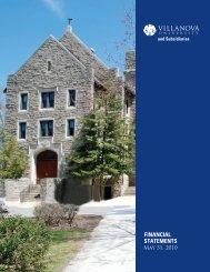 FINANCIAL STATEMENTS - Villanova University