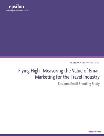 Flying High: Measuring the Value of Email Marketing for ... - Epsilon