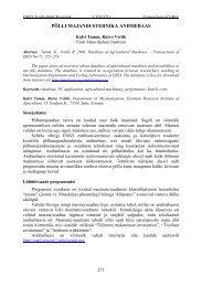 Põllumajandustehnika andmebaas - Eesti Maaviljeluse Instituut