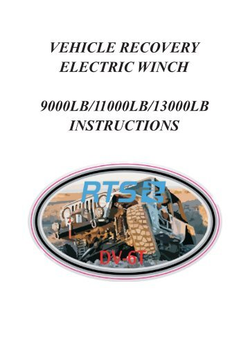 vehicle recovery electric winch 9000lb/11000lb/13000lb instructions