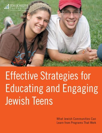 Effective Strategies for Educating and Engaging Jewish Teens