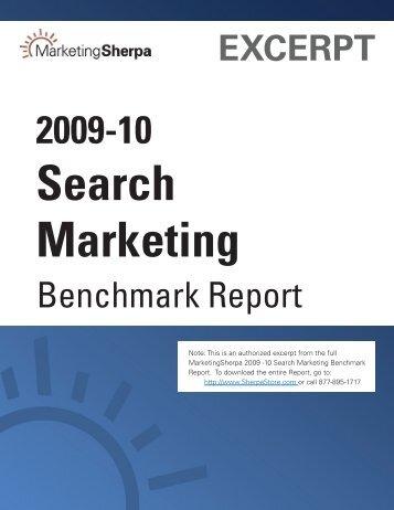 2009-10 Search Marketing - MarketingSherpa