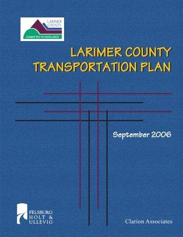 LARIMER COUNTY TRANSPORTATION PLAN LARIMER COUNTY ...