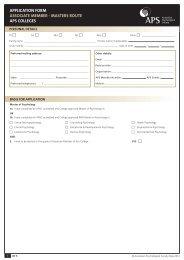 application form member grade - APS Member Groups - Australian ...