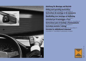 synoris garage door opener manual