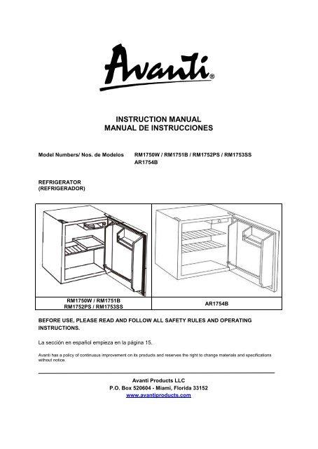 Avanti Refrigerator Wiring Diagram