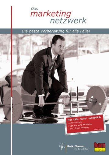 marketing netzwerk - Horn Fachverlag für die Fitnessbranche