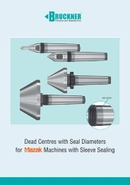 Dead Centres with Seal Diameters for Machines with ... - STOCKFER