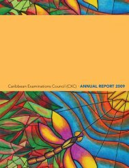CXC Annual Report 2009 - Caribbean Examinations Council