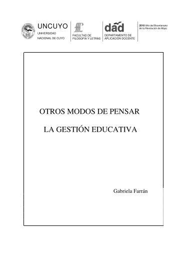 OTROS MODOS DE PENSAR LA GESTIÓN EDUCATIVA - DAD ...