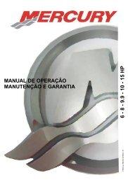 1 5 hp manual de operação manutenção e garantia - Mercury