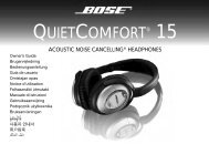 Thank You For Purchasing The QuietComfort - Bose