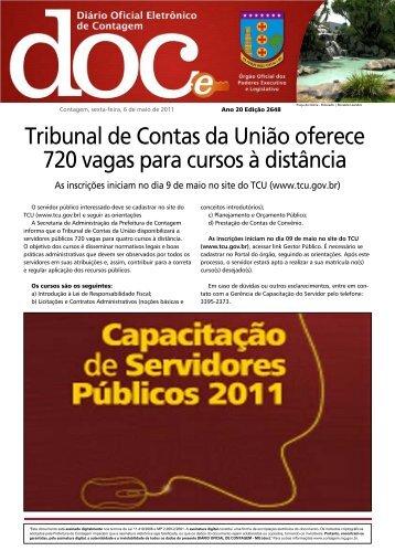 Diário Oficial Nº 2648 - Prefeitura de Contagem