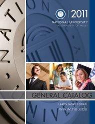 (September 2010) - National University 2011 Catalog 74