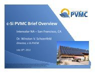 c-Si PVMC Brief Overview