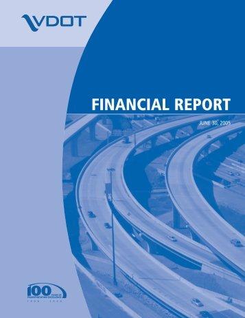 FINANCIAL REPORT - Virginia Department of Transportation