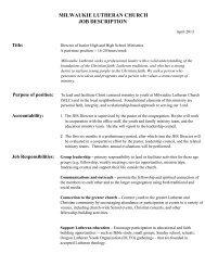 Job Description - Oregon Synod