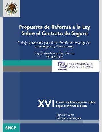 Propuesta de Reforma a la Ley Sobre el Contrato de Seguro - CNSF